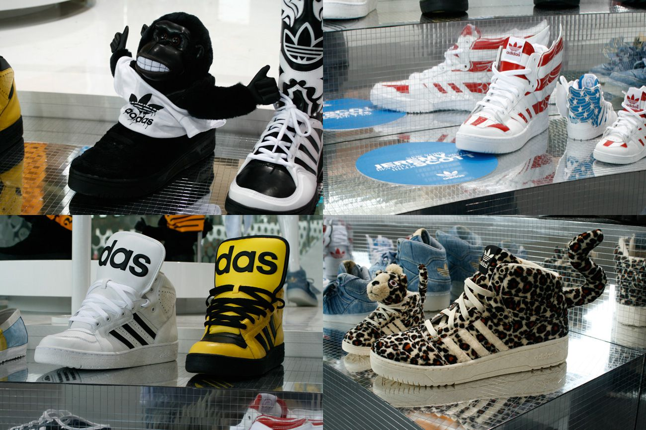 *adidas Originals Jeremy Scott 2012SS:粉紅Charlotte Free與藻綠Mademoiselle Yulia 1