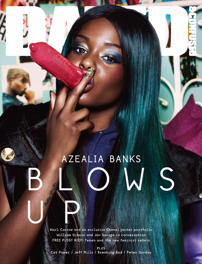 *DAZED & CONFUSED 九月號封面:AZEALIA BANKS 要你BLOWS UP 1